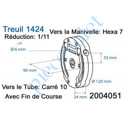 Kit de Motorisation Radio Avec Emetteur Mural Largeur Maxi 2500mm Poids Maxi 40 kg