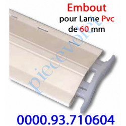 0000.93.710604 Embout de Lame Pvc de 60 mm