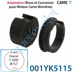 001YK5115 Jeu d'Adaptation pour Moteur Came Mondrian diamètre 45 dans Tube  Deprat 62