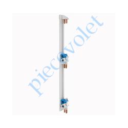 005001 Peigne Vertical Legrand VX Gris pour Coffret 3 Rangées Entr'axes 125 mm