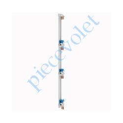 005002 Peigne Vertical Legrand VX Gris pour Coffret 4 Rangées Entr'axes 125 mm