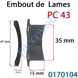 0170104 Embout de lames Pc 43