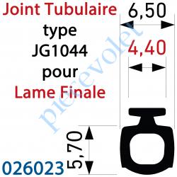 026023 Joint Noir Tubulaire Bi-Dureté JG1044 Talon 4,4 mm à Monter sur Lame Finale, le mètre