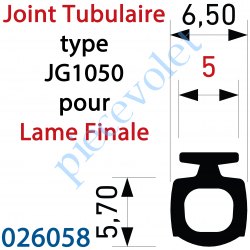 026058 Joint Noir Tubulaire Bi-Dureté JG1050 Talon 5 mm à Monter sur Lame Finale, le mètre