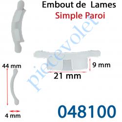 048100 Embout de lames E 40 Simple Paroi