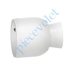 050417 Prise Electrique Femelle 2 P + T 16 A IP 40 en Plastique Blanc à Sortie Droite