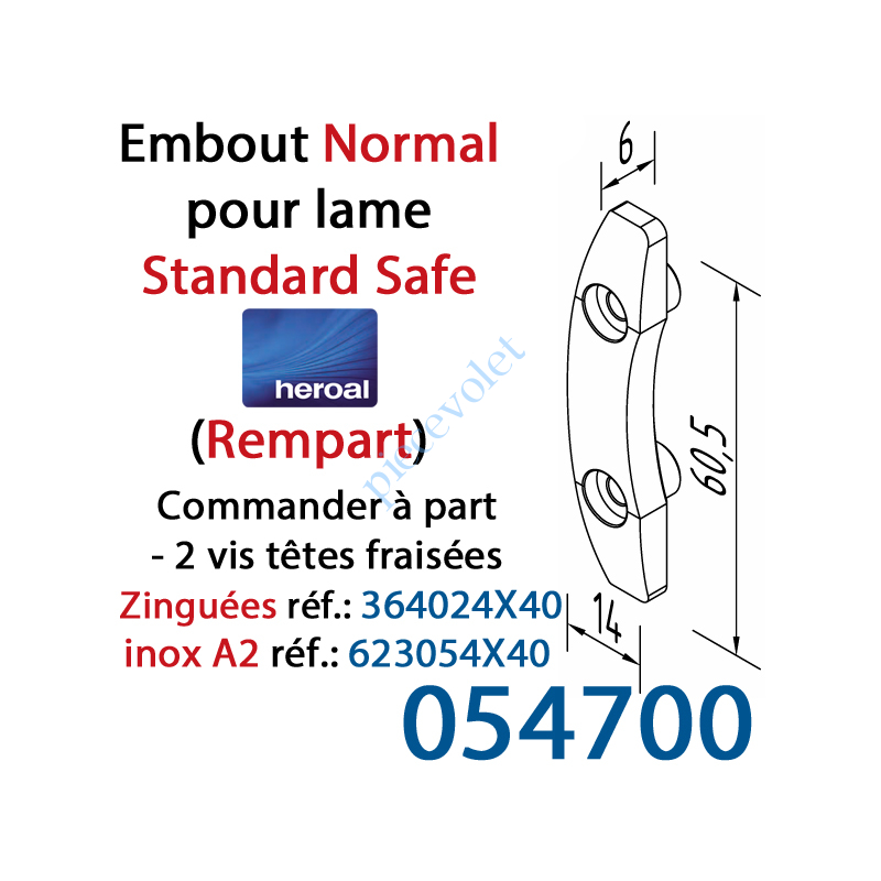 054700 Embout N (Normal) de lame Standard Safe Rempart
