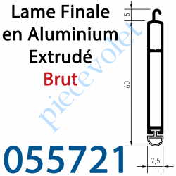 055721 Lame Finale Aluminium Brut 60 x 8 mm
