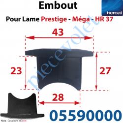 05590000 Embout de lames Méga & Hr37 à Enfoncer Sans Fraiser