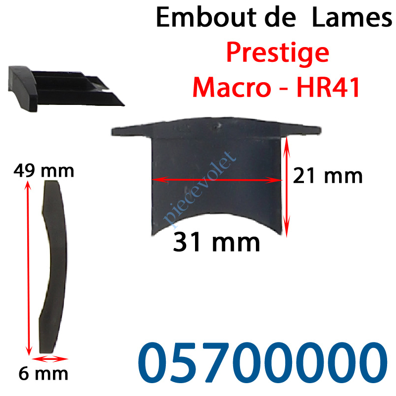 05700000 Embout de lames Macro & Hr41 à Enfoncer Sans Fraiser
