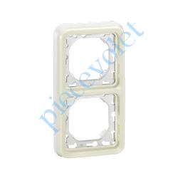 069696 Plaque Blanche pour Mécanisme Legrand Plexo (2 Postes Verticaux entraxe 71 mm)