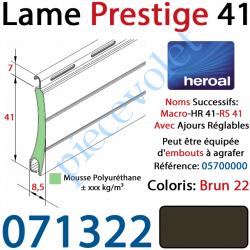 071322 Lame Alu Double Paroi Injectée de Mousse Polyuréthane Hr41 de 41x8,5 Coloris Brun 22 Avec Ajourage