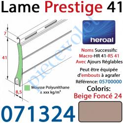 071324 Lame Alu Double Paroi Injectée de Mousse Polyuréthane Hr41 de 41x8,5 Coloris Beige Foncé 24 Avec Ajourage