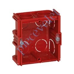 080141 Boîte d'encastrement Carrée Monoposte Associable Profondeur 40 mm pour Maçonnerie