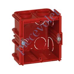 080151 Boîte d'encastrement Carrée Monoposte Associable Profondeur 50 mm pour Maçonnerie