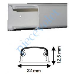 08800 Moulure TM Optima Iboco 20 x 12,5 mm Longueur 2 m Sans Cloison Blanche ±Ral 9010
