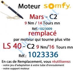 1023009 Moteur Mars C2 9/14 Sans Carré LS 40 sans Mds Double Isolation Classe II
