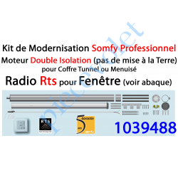 1039488 Kit de Modernisation Somfy Double Isolation Fenêtre Radio Rts