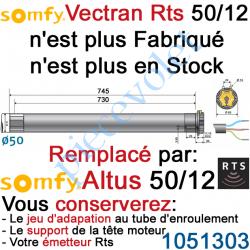 1051183 Moteur Vectran 50/12 Rts ou Rts2 LT 50 sans Mds