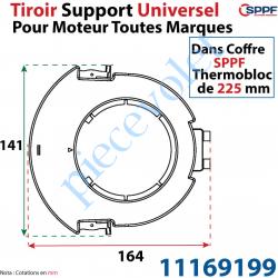 11169199 Tiroir Support Universel pour Moteur Toutes Marques pour Coffre Sppf Thermobloc de 225 mm en Matériau Composite