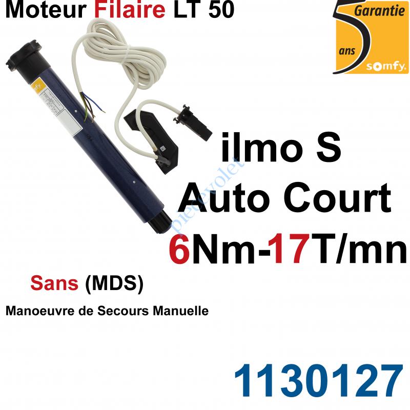 1130127 Moteur Filaire Electronique ilmo 50 WT 6/17 S Auto Court Réglage Automatique des FdC sans Mds
