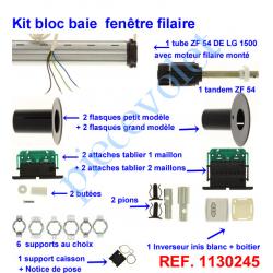 1130245 Kit de Modernisation Somfy Bloc Baie Largeur Maxi 1500mm Filaire