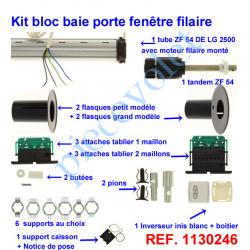 1130246 Kit de Modernisation Somfy Bloc Baie Largeur Maxi 2500mm Filaire