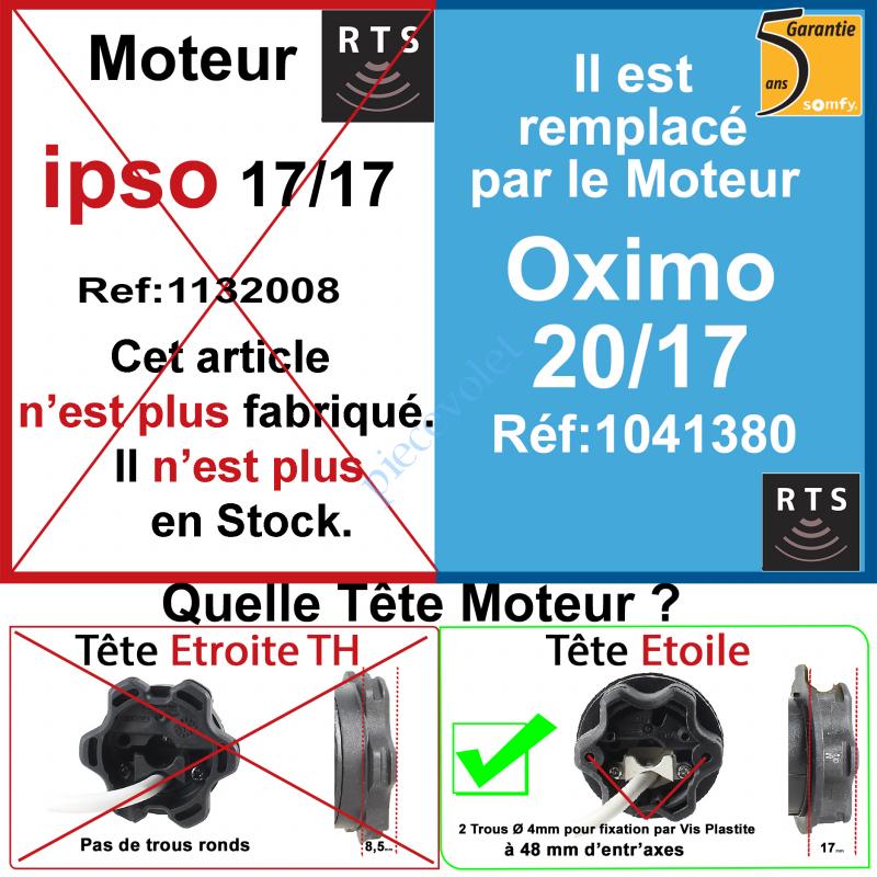 1132008 Moteur Ipso 17/17 Rts ou Rts2 LT 50 sans Mds
