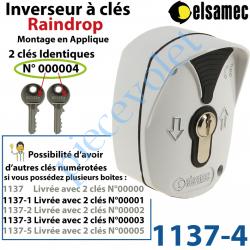 1137-4 Inverseur à Clés n°4 Raindrop Elsamec et Déverrouillage de l'Electro-frein en Applique 5 A sous 230 vca ip54
