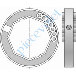 1780117 Bague de Verrou Automatique Blocksûr pour tube Octo 60 ø Ext 88 mm