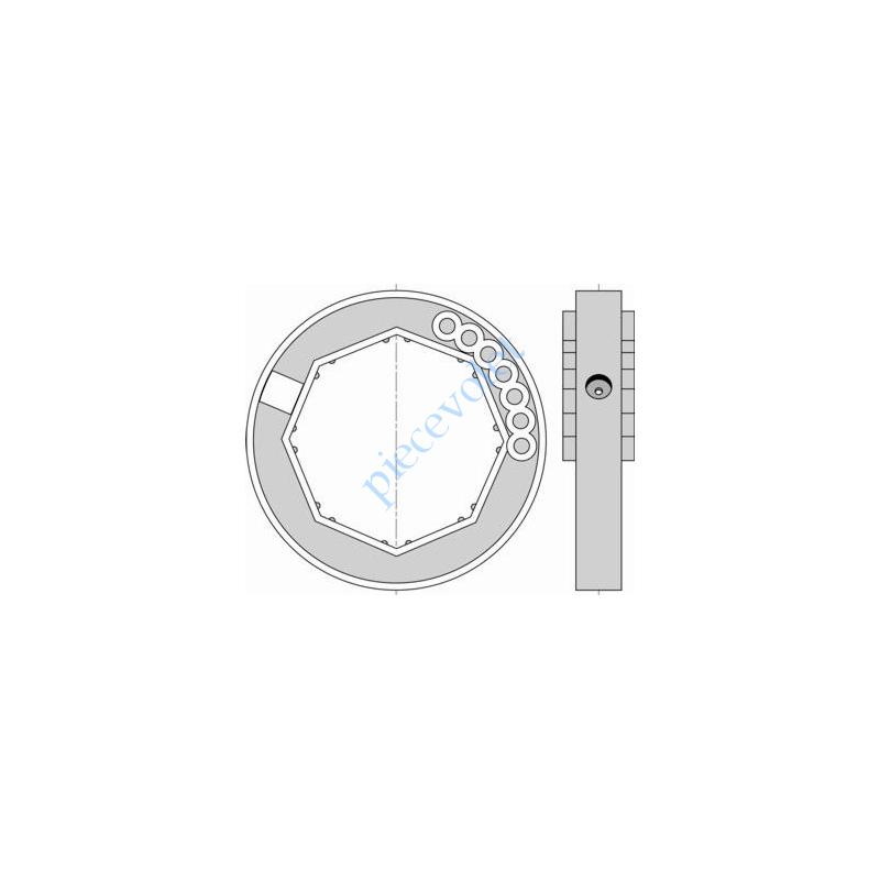 1780118 Bague de Verrou Automatique Blocksûr pour tube Octo 70 ø Ext 104 mm