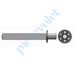 1781011 Axe carré de 13 mm ø 14 mm pour Moteur Phœnix pour Embout Sans Axe