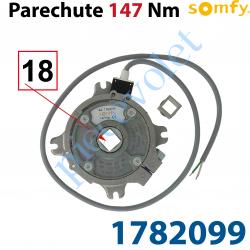 1782099 Parechute Sécurité Réarmable 147 Nm Entraîn Carré 18 mm Av Cont Sécu Câb Lg 1m Av Viss