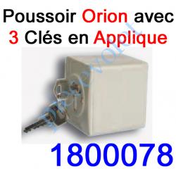 """1800078 Poussoir à clés en Zamac 1 Impulsion """"Inviolable"""" en Applique Orion 10 A ip 54"""