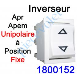 1800152 Inverseur Apr - Apem (Mécanisme seul) Unipolaire à Position Fixe Coloris Blanc