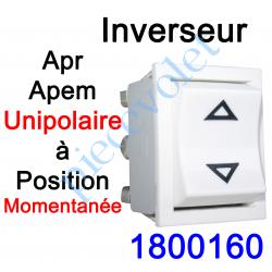 1800160 Inverseur Apr - Apem (Mécanisme seul) Unipolaire à Pression Maintenue Coloris Blanc