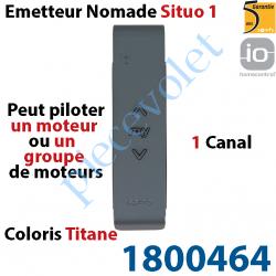 1800464 Emetteur Nomade Situo 1 Titane io 1 Canal 1 Voie