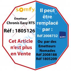 1805126 Emetteur Mural Horloge Chronis Easy Rts