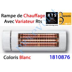 1810876 Rampe de Chauffage Orientable à Variateur Intégré Rts Coloris Blanc ± Ral 9010