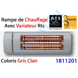 1811201 Rampe de Chauffage Orientable à Variateur Intégré Rts Coloris Gris Clair ± Ral