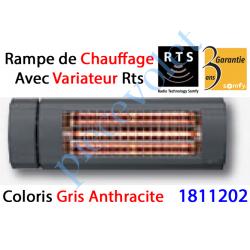 1811202 Rampe de Chauffage Orientable à Variateur Intégré Rts Coloris Gris Anthracite ± Ral