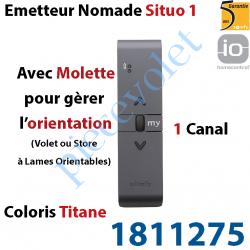 1811275 Emetteur Nomade Situo 1 Titane io Avec Molette pour Variation 1 Canal 1 Voie