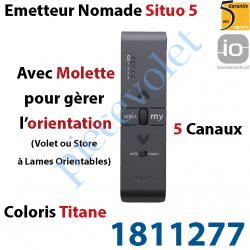 1811277 Emetteur Nomade Situo 5 Titane io Avec Molette pour Variation 5 Canaux 1 Voie