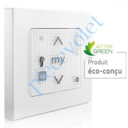 1811321 Emetteur Mural Smoove RS 100 Sensitif 1 io Blanc Avec Cadre