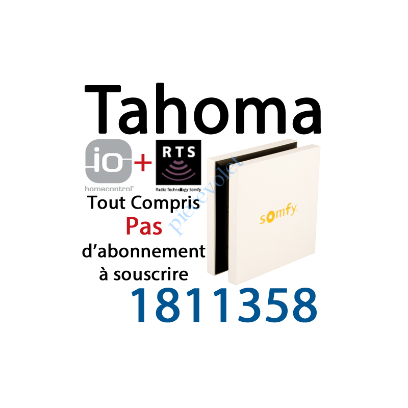 Somfy 1811358 Boitier Tahoma Somfy Io Et Rts Pack Liberte A