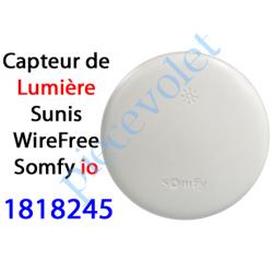 1818245 Capteur de Lumière Sunis WireFree io Blanc Auton av 2 pil 1,5 v AA
