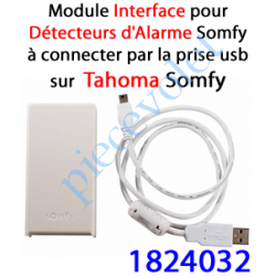 1824032 Module Détecteurs Alarme Somfy à Connecter au port Usb du Boîtier Tahoma