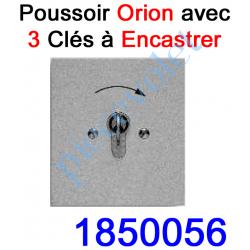 """1850056 Poussoir à clés en Zamac 1 Impulsion """"Inviolable"""" à Encastrer Orion 10 A ip 54"""