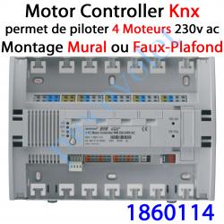 1860114 Motor Controller 4AC Bus EIB Knx & IB+ 230 VAC Modèle WM (Montage en Faux-Plafond)
