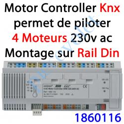 1860116 Motor Controller 4AC Bus EIB Knx & IB+ 230 VAC Modèle DRM (Montage sur Rail Din 12 Modules)